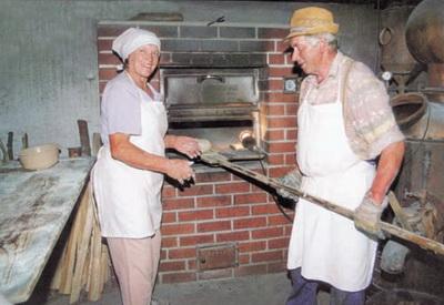 Дровяная печь для малой пекарни