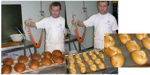 Хлеб до и после выпечки