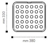 Размер формы пластины для тарталеточной машины Cookmatic