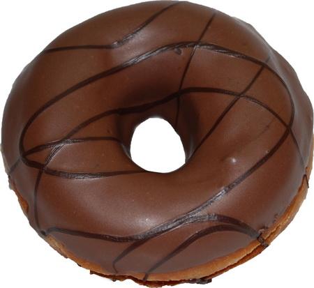 Донатс с шоколадной глазурью