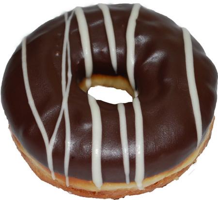Пончик донатс с шоколадной глазурью